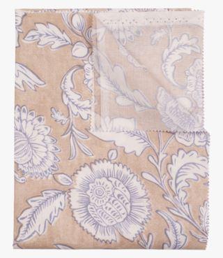 Flowery pintakäsitelty pöytäliina beige