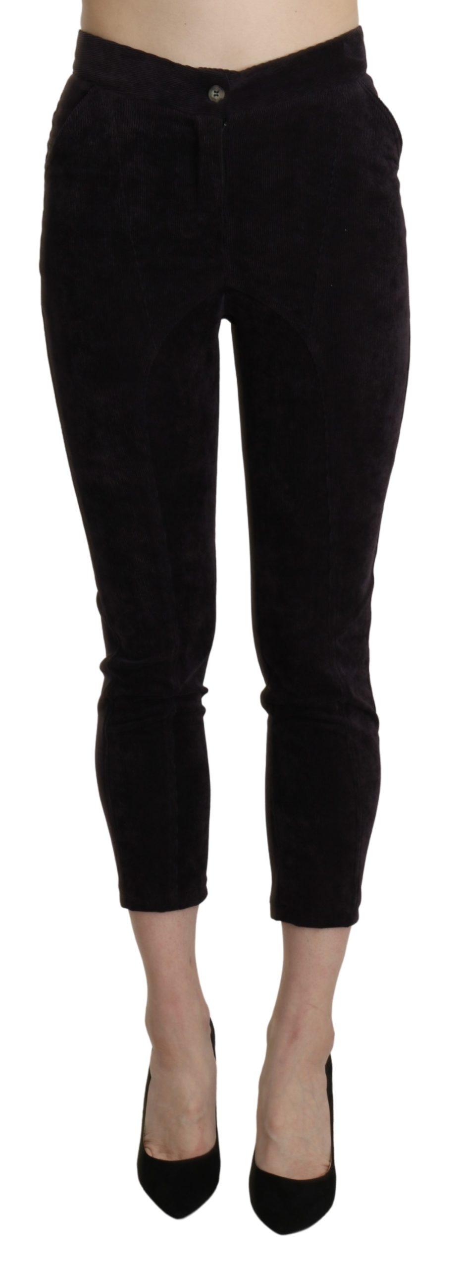BENCIVENGA Women's High Waist Skinny Cropped Trousers Brown PAN71356-40 - IT40|S