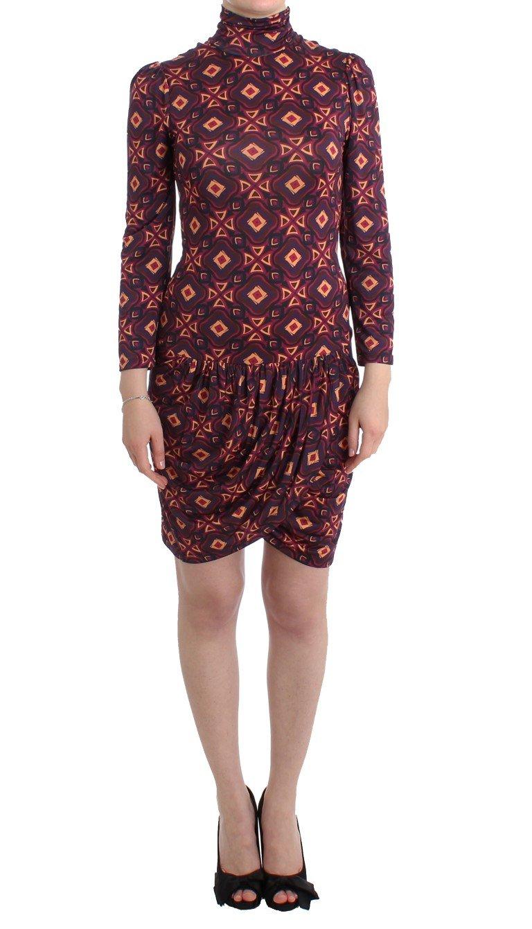 GF Ferre Women's LSTurtleneck Viscose Dress Multicolor SIG11521 - IT42|M