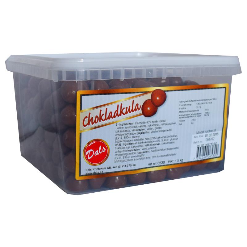 Hel Låda Godis Chokladkulor 1,5kg - 23% rabatt
