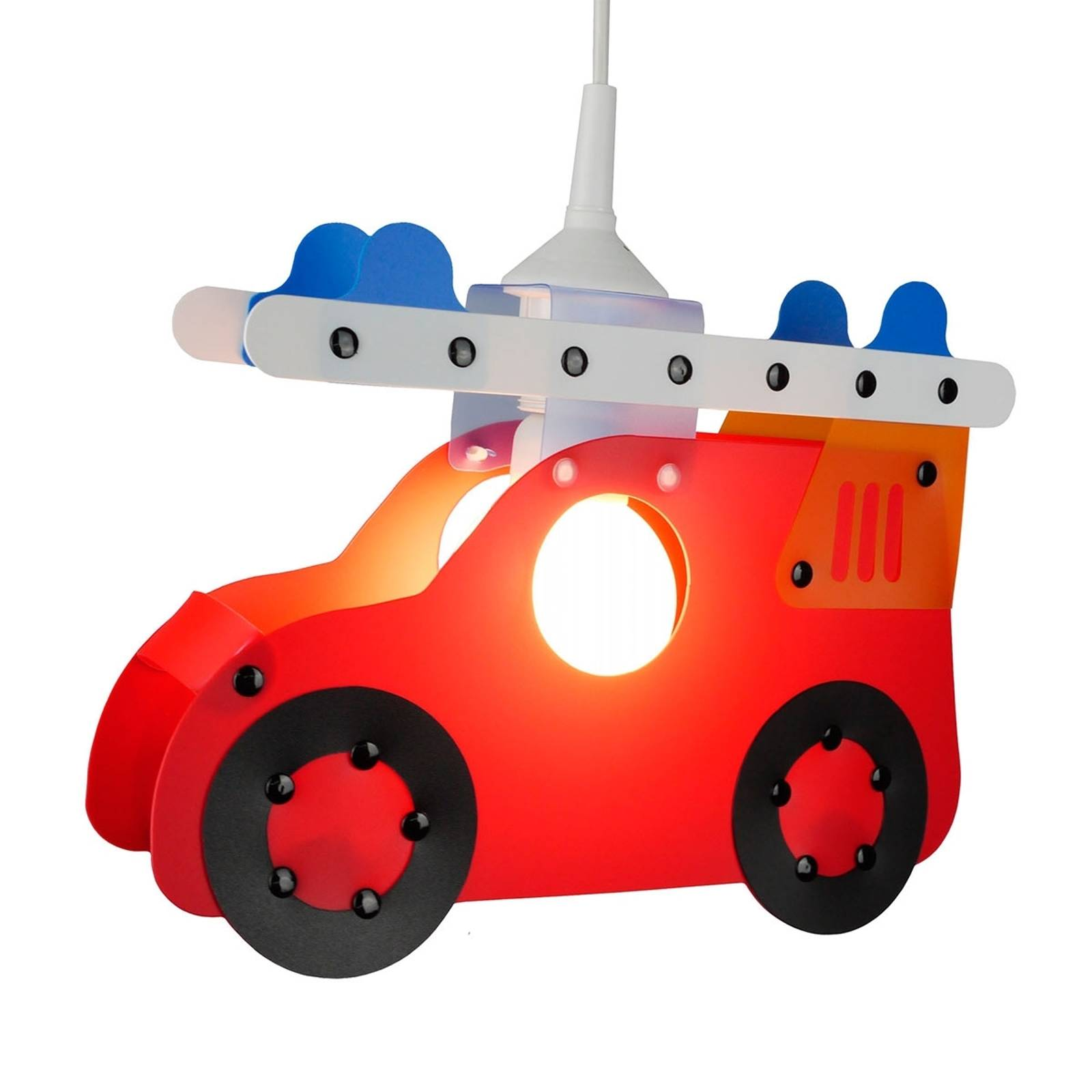 Lastenhuoneen riippuvalaisin Paloauto