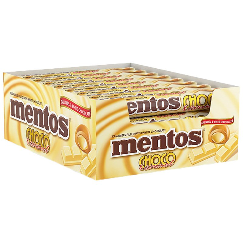 Mentos Choco White 24kpl - 30% alennus