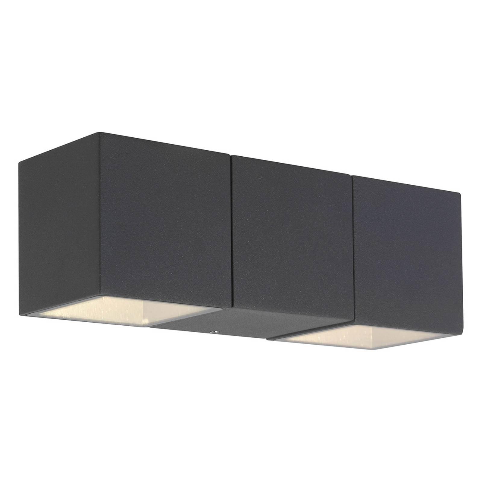 AEG Daveen utendørs LED-vegglampe, 2 lyskilder