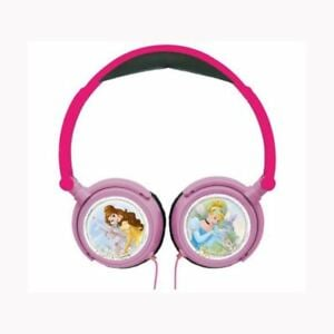 Lexibook - Disney Princesse Stereo Wired Foldable Headphone with Kids Safe Volume (HP010DP)