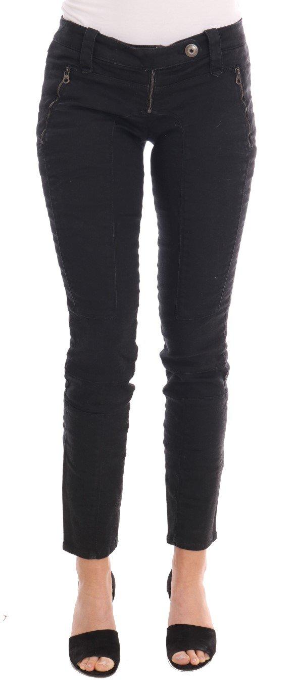 Ermanno Scervino Women's Slim Fit Jeans Black PAN20001 - IT40|S