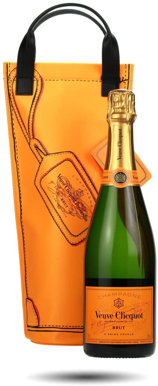 Veuve Clicquot Yellow Label Brut Champagne Shopping Bag 75cl