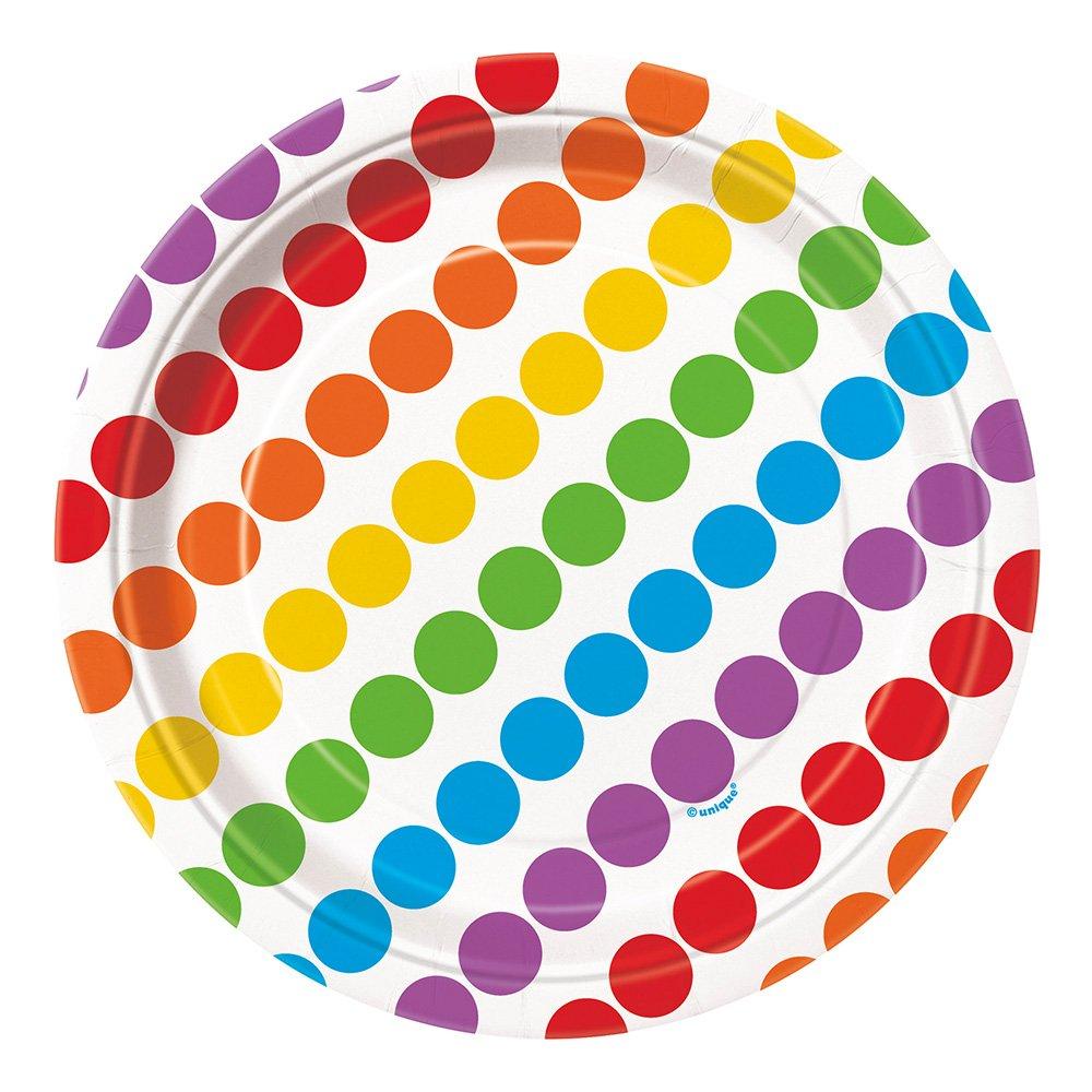 Pappersassietter Happy Birthday Rainbow - 8-pack