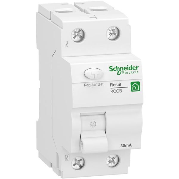 Schneider Electric Resi9 Jordfeilbryter 2-polet, 25 A