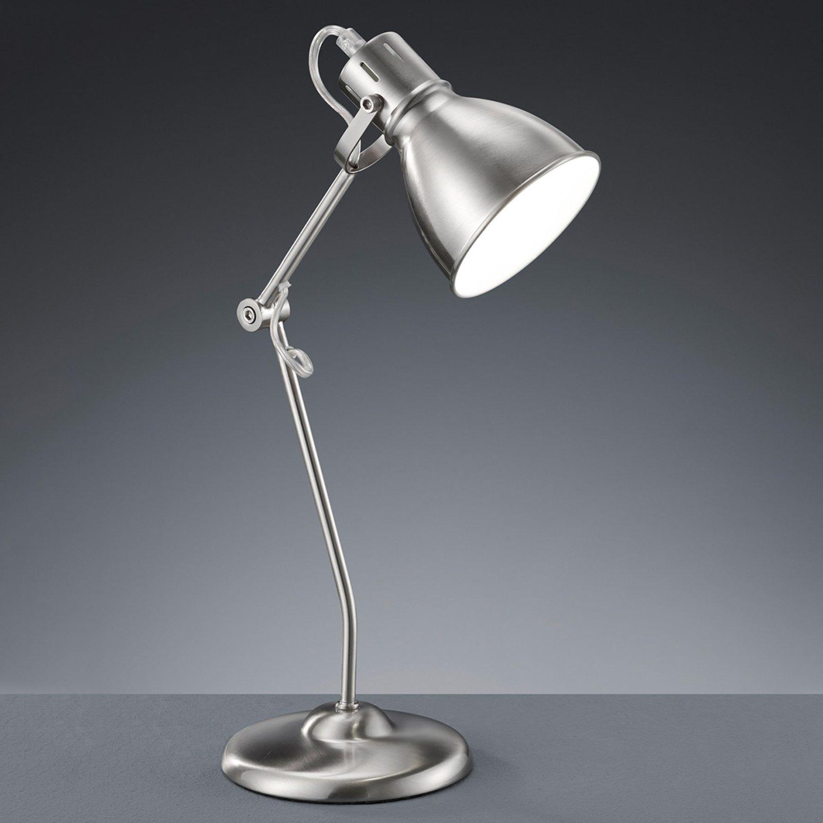 Liten bordlampe Keali nikkel matt