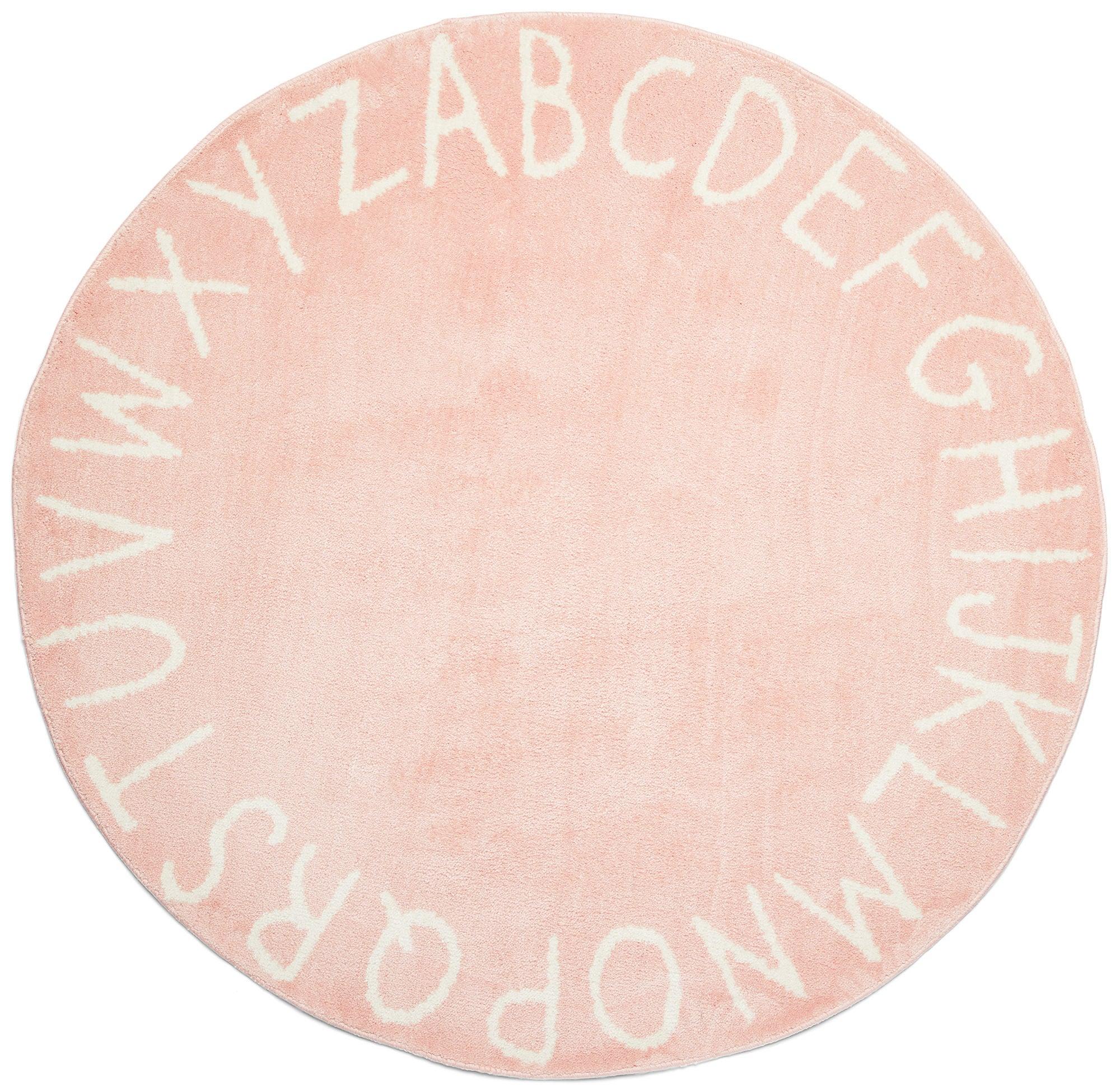 Alice & Fox Matto Kirjaimet 120 cm, Vaaleanpunainen