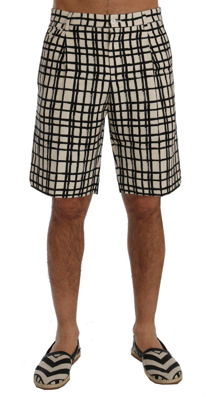 Dolce & Gabbana Men's Striped Casual Shorts Multicolor - IT44 | XS
