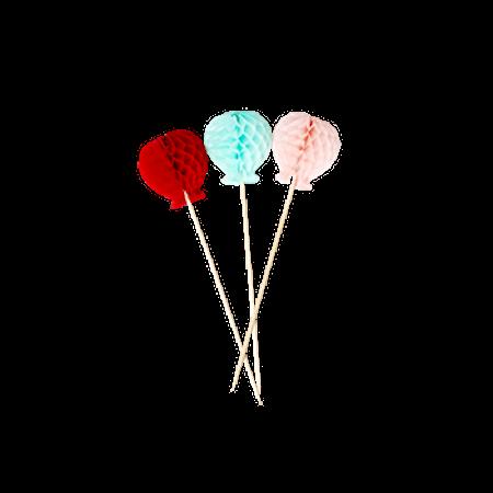 Papirdekorasjon 6-pakning Ballonger
