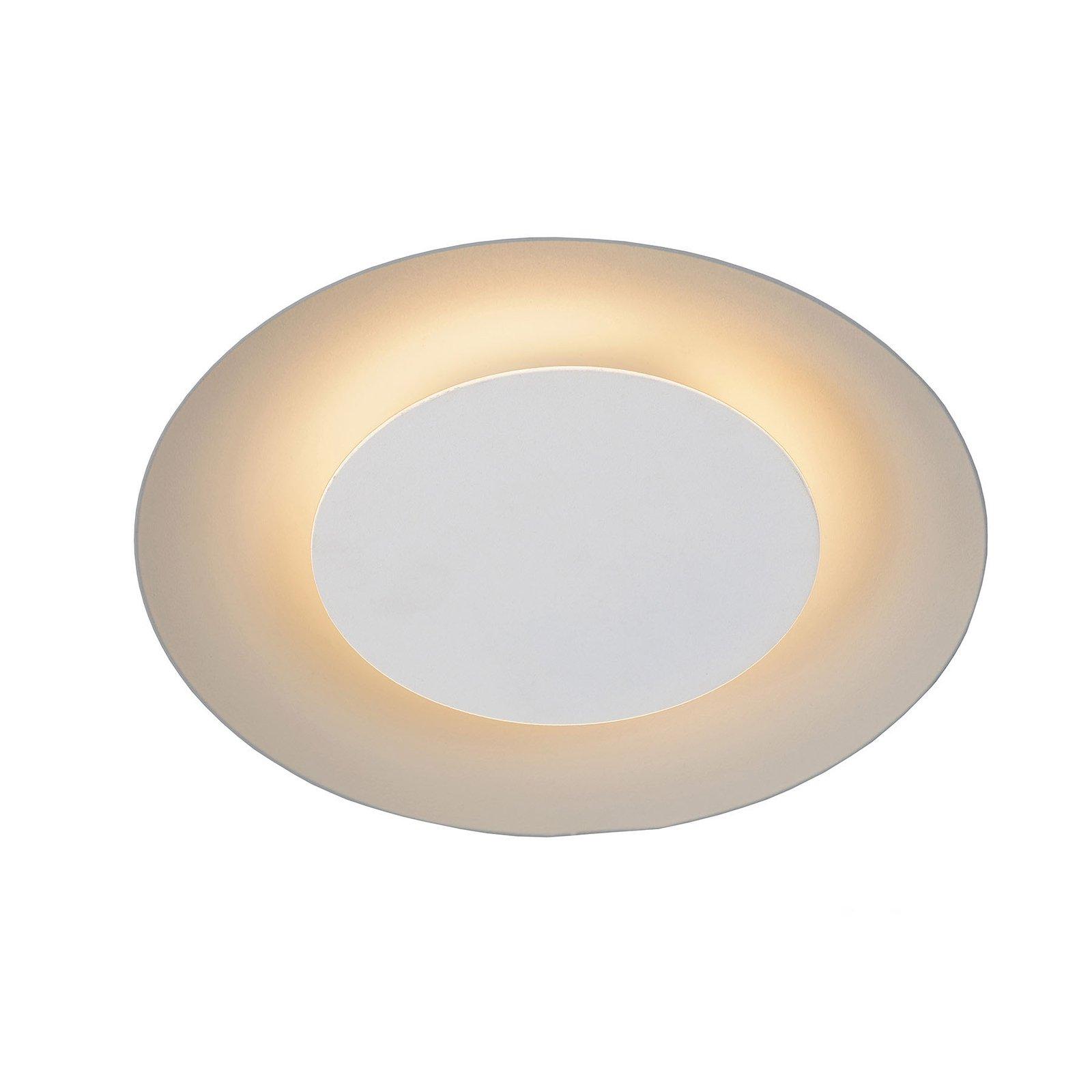 Foskal LED-taklampe i hvitt, Ø 21,5 cm