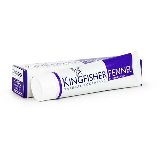 Kingfisher Naturlig Fluorfri Tandkräm Fänkålssmak, 100 ml