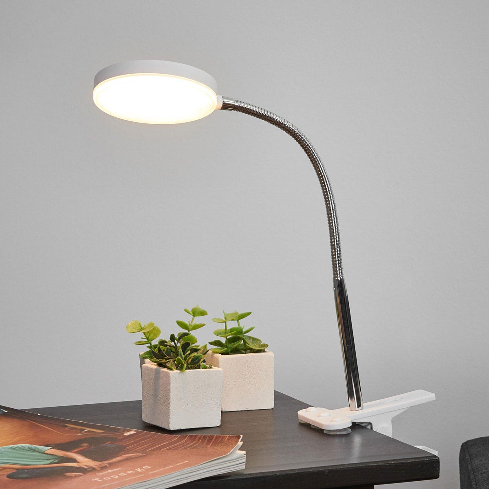 Milow bordklemmelampe med LED og fleksibel arm