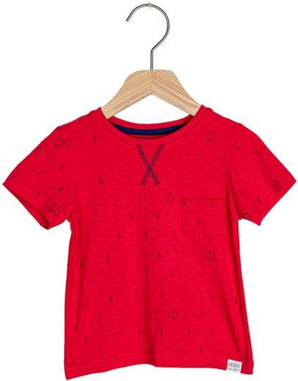 Ebbe Boston T-Skjorte, Blue Anchors 92