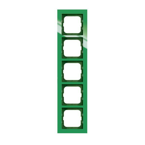 ABB Axcent Yhdistelmäkehys vihreä 5-paikkainen