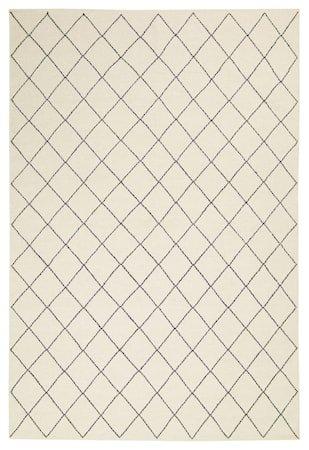Diamond Dhurry Teppe Ull Off White/Navy 184x280 cm