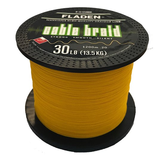 Fladen Maxximus Cable Braid gul 1200 m flätlina