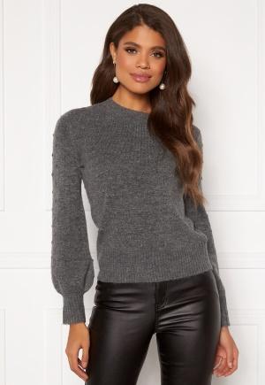 Happy Holly Edith knitted sweater Dark grey / Melange 48/50