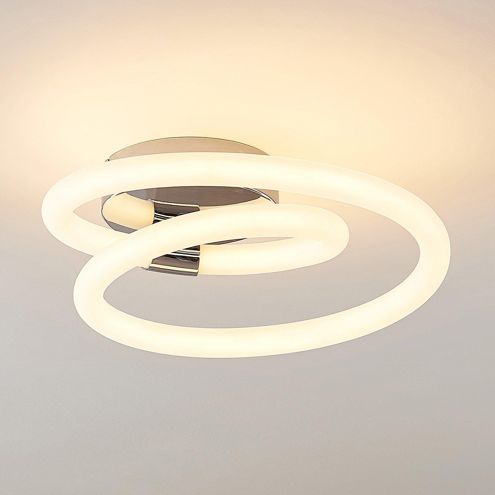 Lucande Lumka LED-vegglampe i krom