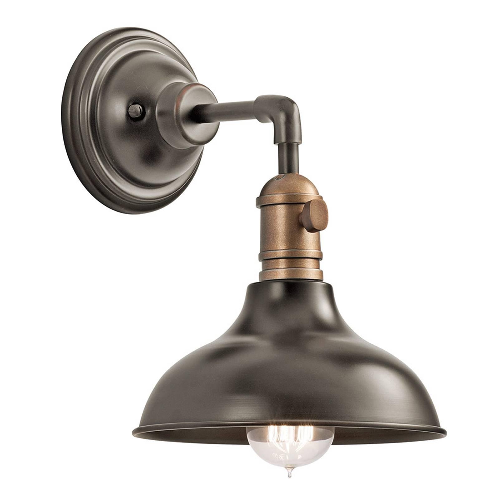 Vegglampe Cobson1, antikk bronse