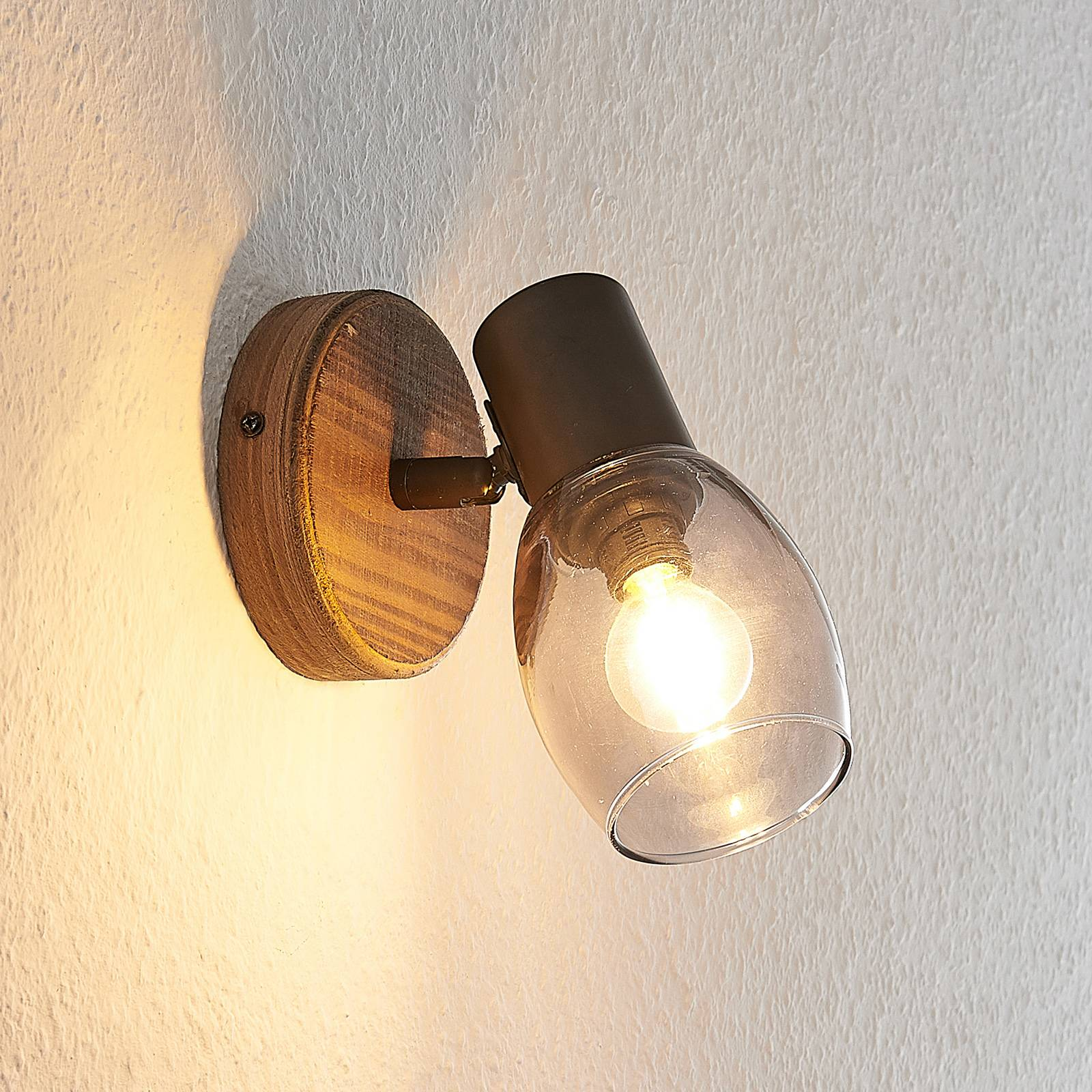 Lindby Ineska -kohdevalaisin, puu, 1-lamppuinen