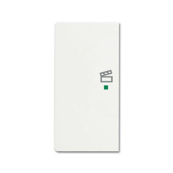 ABB Future Linear 6220-0-0609 Yksiosainen vipupainike tilanneohjaus, valkoinen Vasen