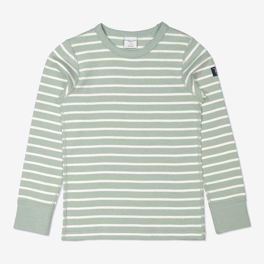 Stripet genser grønn