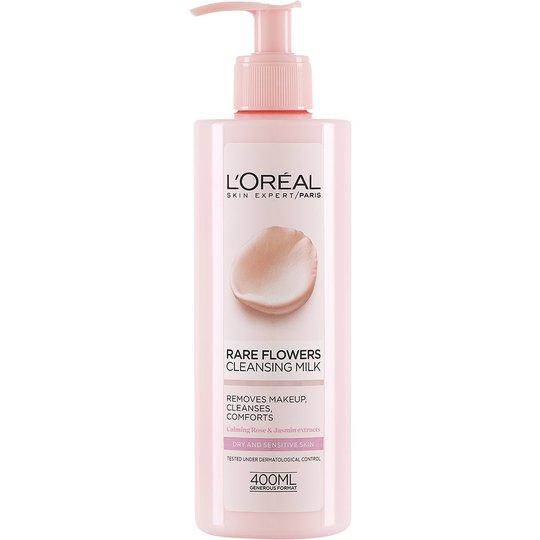L'Oréal Paris Rare Flowers Cleansing Milk Dry/Sensitive, 400 ml L'Oréal Paris Kasvojen puhdistus