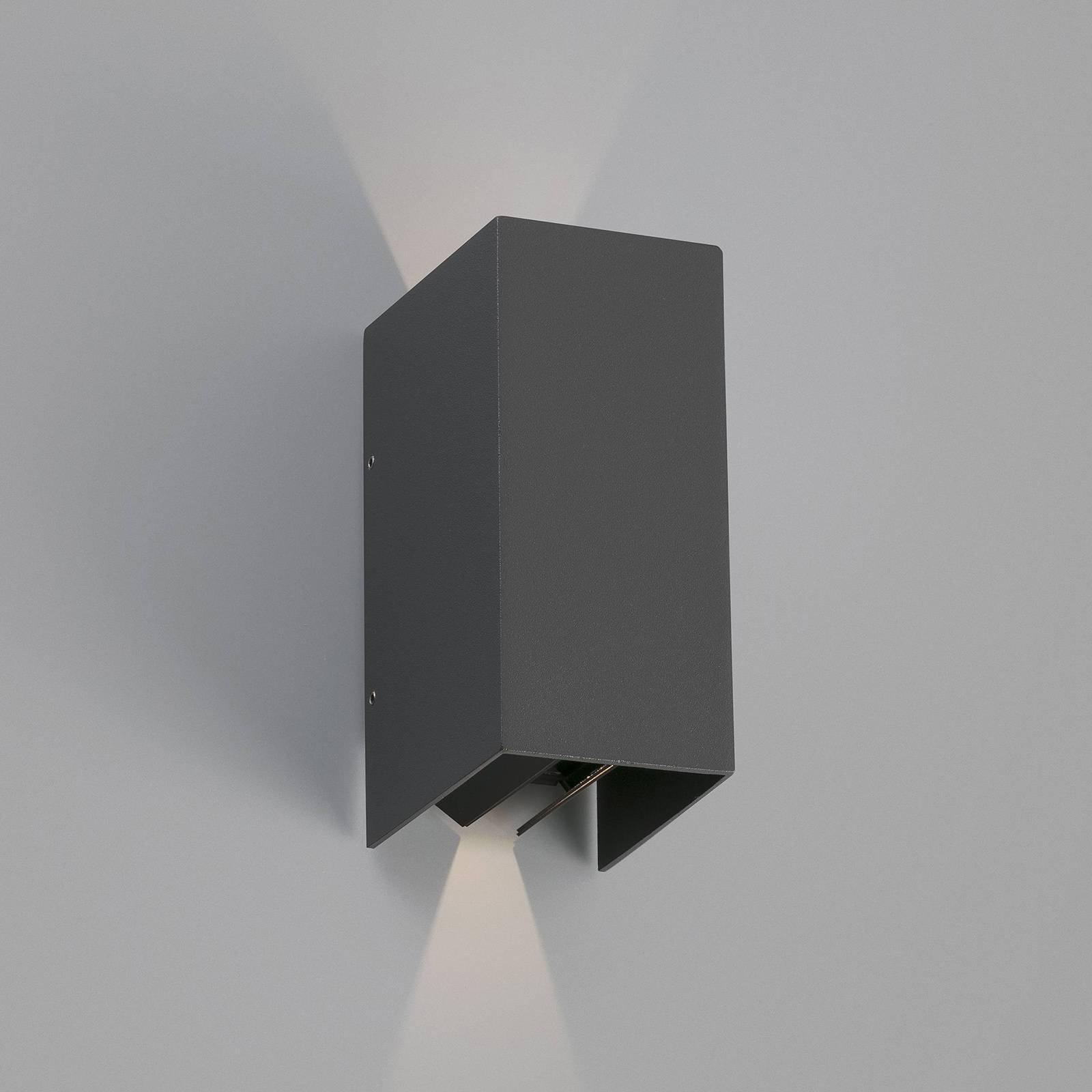 Utendørs LED-vegglampe Blind, mørkegrå
