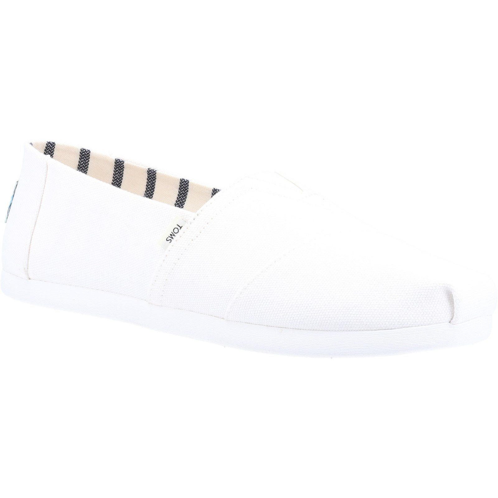 TOMS Men's Alpargata Canvas Loafer White 32554 - White 12