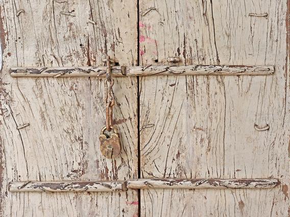 Antique Indian Doors - White White