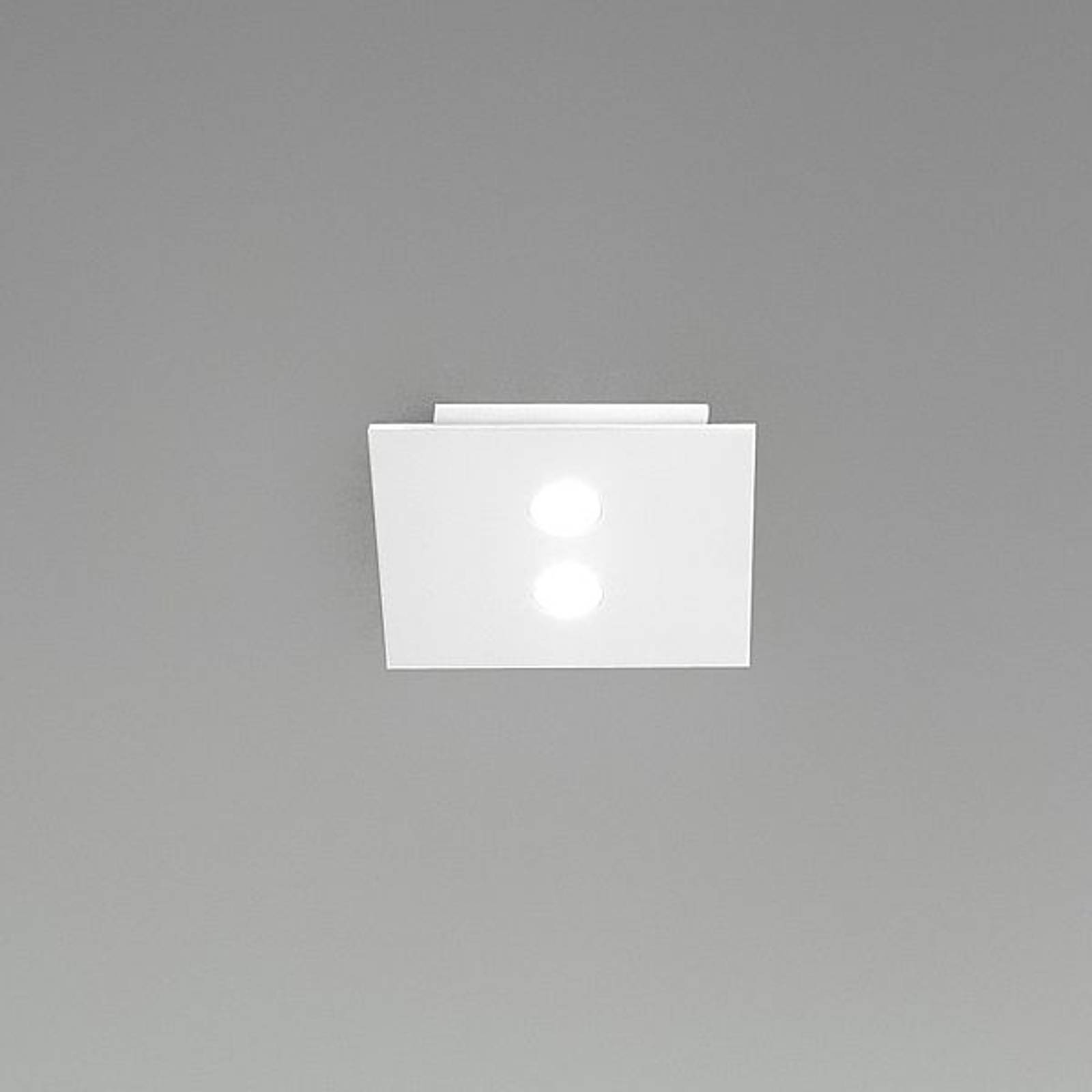 ICONE Slim - pieni LED-kattovalaisin, 2-lamppuinen