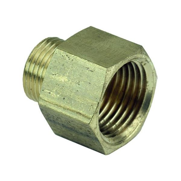 Ezze 3006081012 Metallnippel in- utv gjenge G15 x G10, messing