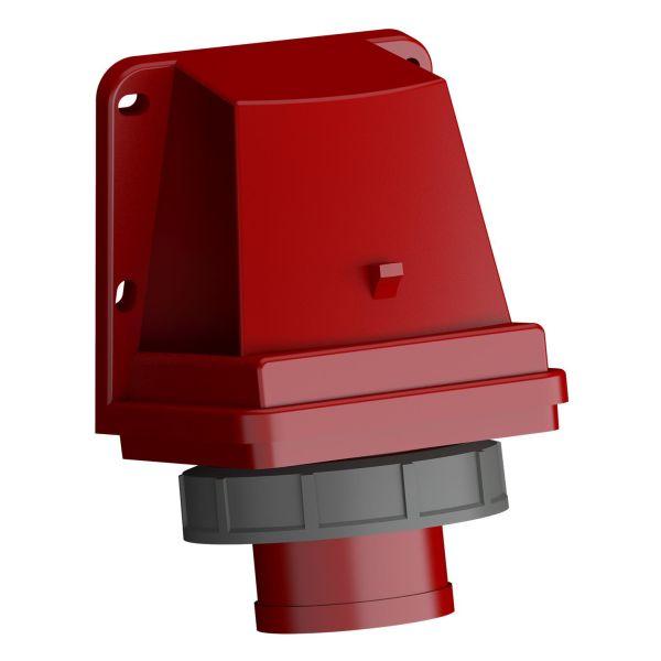 ABB 2CMA102382R1000 Vegginntak hurtigtilkoblet, vibrasjonsbestandig Rød, 32 A, 4-polet, IP67