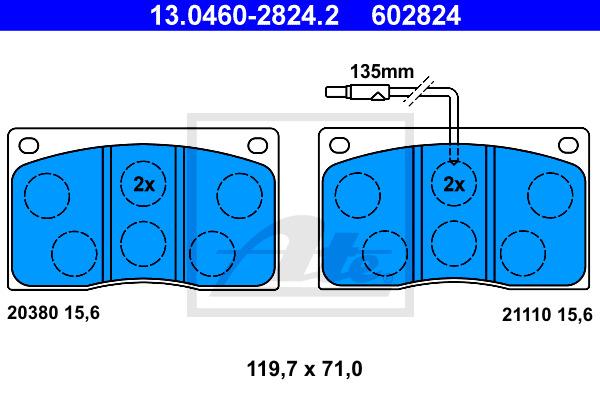 Jarrupalasarja, levyjarru ATE 13.0460-2824.2