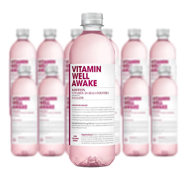 Vitamin Well Awake Hallon - 12 st x 50cl