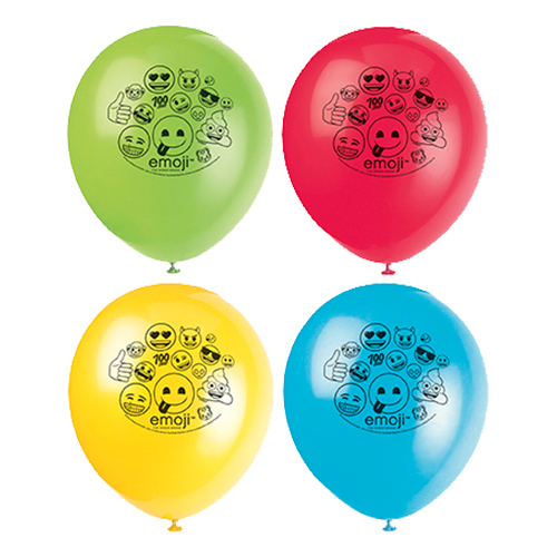 Ballonger Emojis Flerfärgade - 8-pack