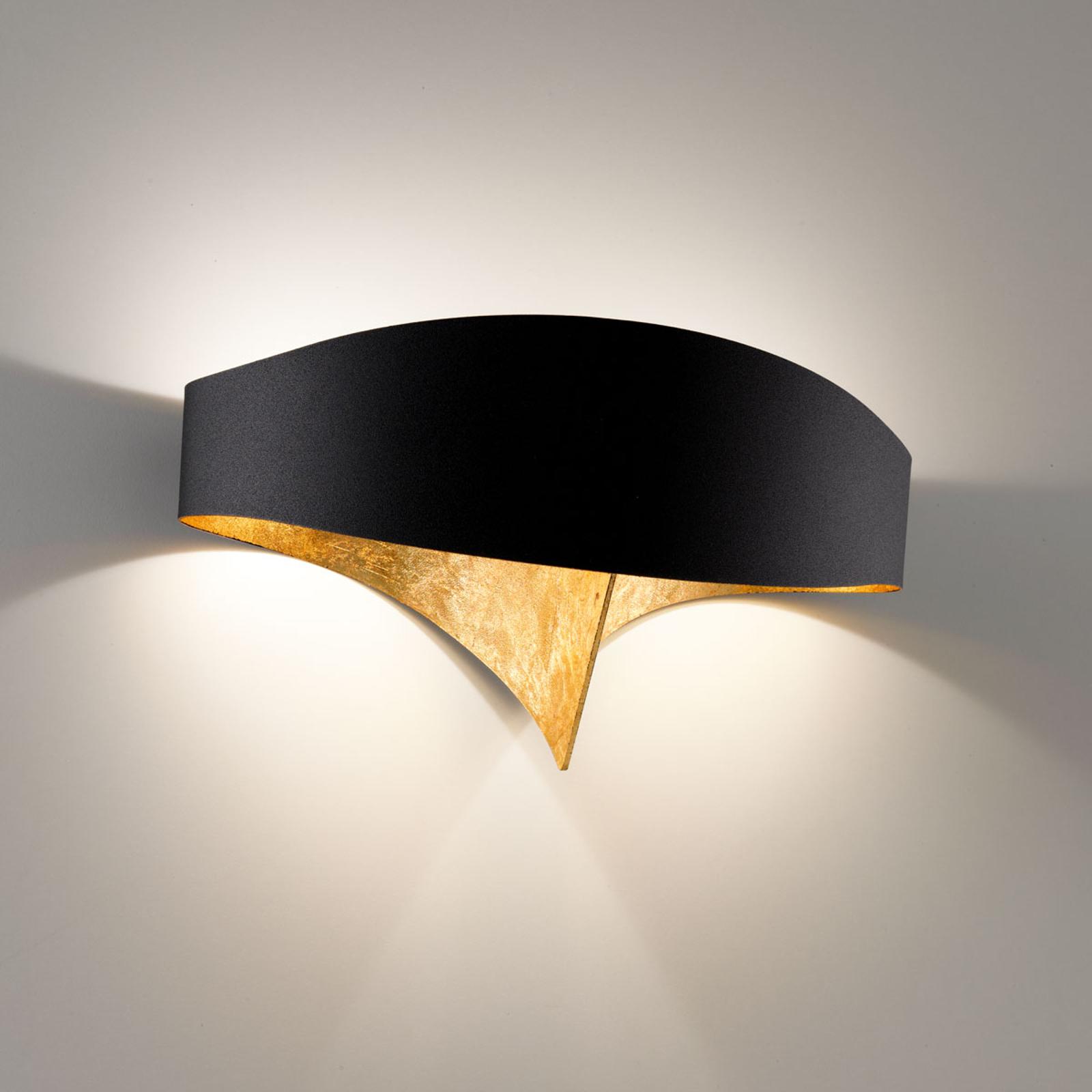 Musta-kultainen design-seinävalaisin Scudo