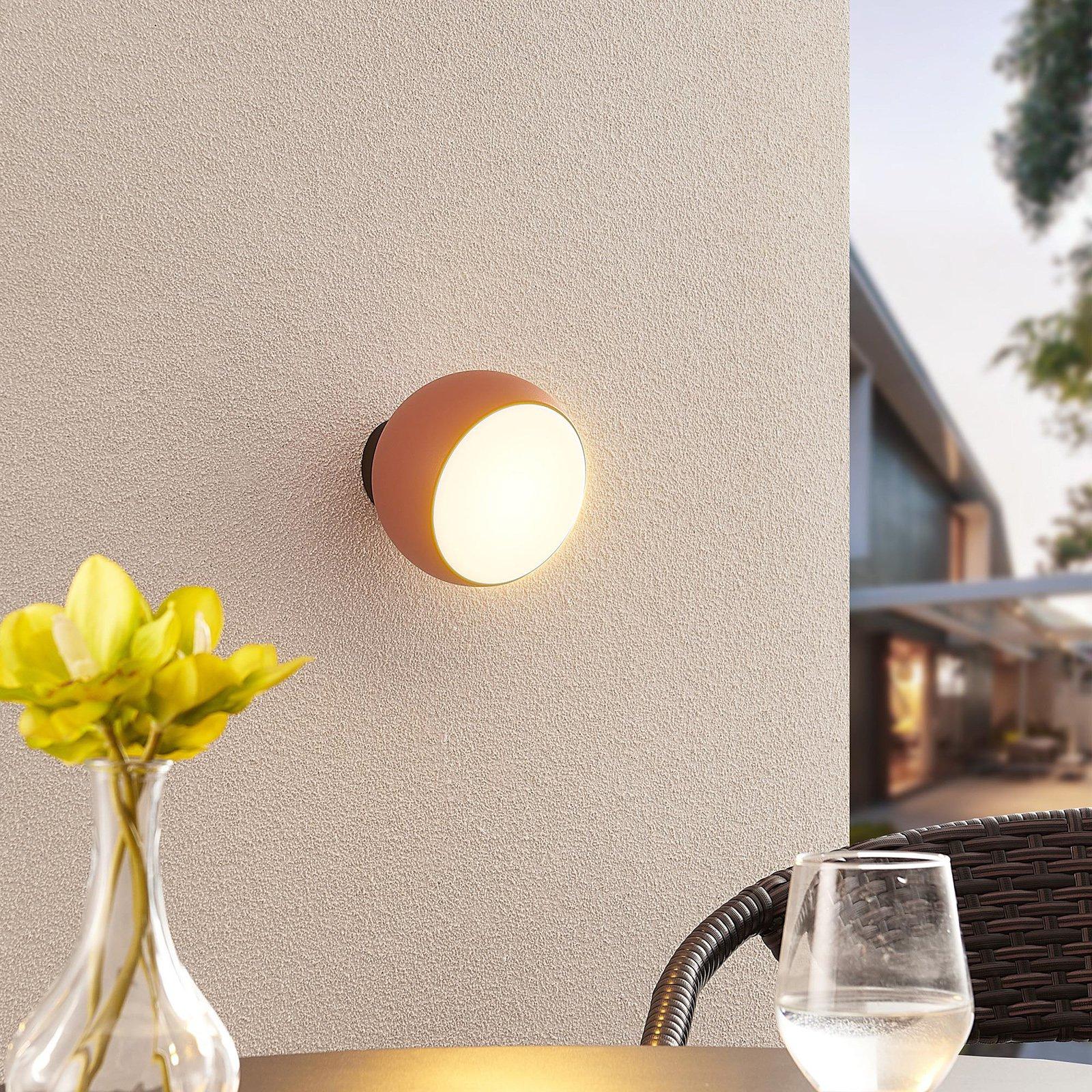 Arcchio Davir LED-vegglampe bærbar batteri oransje