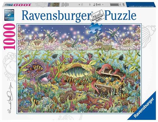Ravensburger Puslespill Undervannsrike I Skumringen, 1000 Brikker