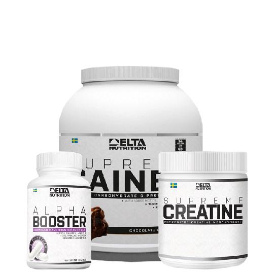 Delta Growth Pack (Creatine, Gainer, Alpha Booster)