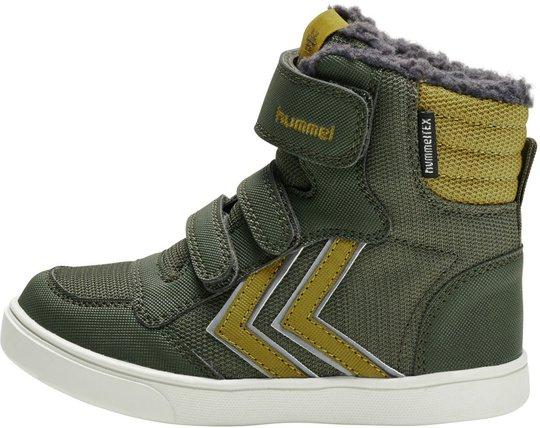 Hummel Stadil Super Poly Mid Jr Sneaker, Olive Night, 27