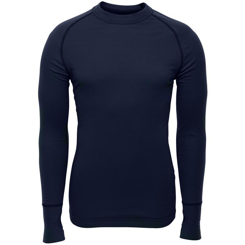 Brynje Arctic Shirt med tommelgrep XXS Tolags ventilerende undertøy - Navy