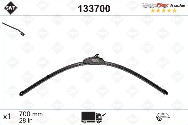 Flatblade 700mm Krokarm 9x4mm