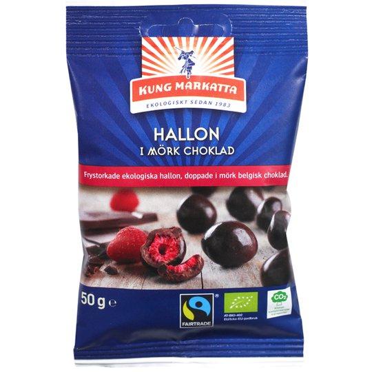 Hallon Mörk Choklad 50g - 50% rabatt