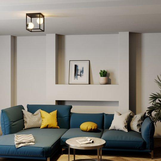 Lindby Utopia -LED-kattovalaisin, 2-lamppuinen