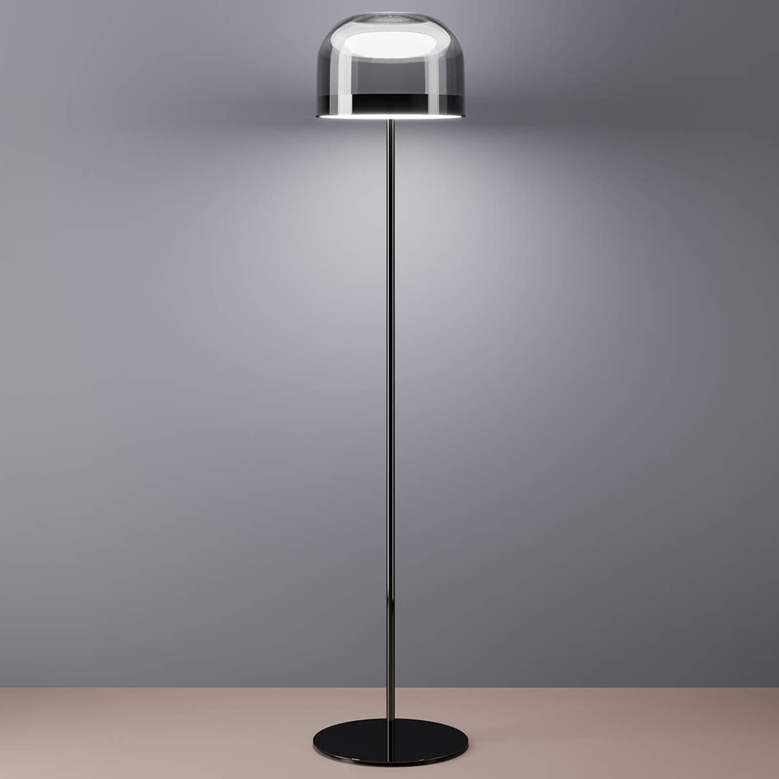 LED gulvlampe Equatore i krom, 135 cm