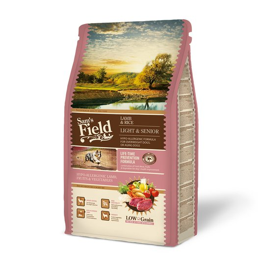 Sam's Field Light & Senior Lamb & Rice (2,5 kg)
